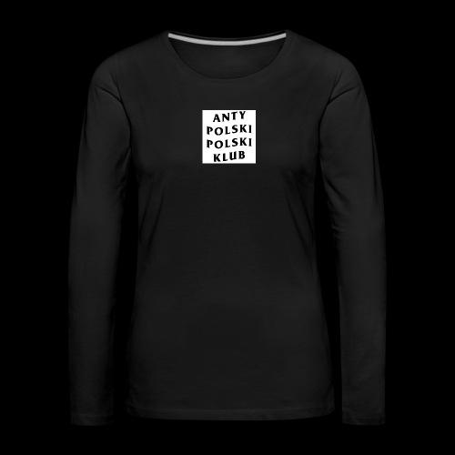 APPK SQUARE - Koszulka damska Premium z długim rękawem