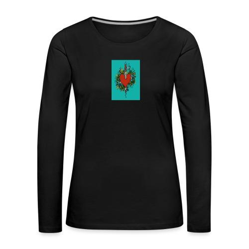 Heart - Maglietta Premium a manica lunga da donna