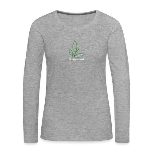 Sustained Sweatshirt Navy - Dame premium T-shirt med lange ærmer
