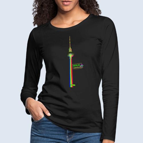"Berliner Original ""Fernsehturm"" PopArt Design - Frauen Premium Langarmshirt"