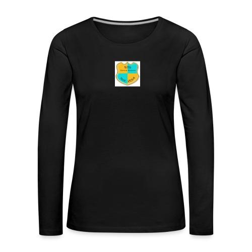STG Vienna Kickers Logo - Frauen Premium Langarmshirt
