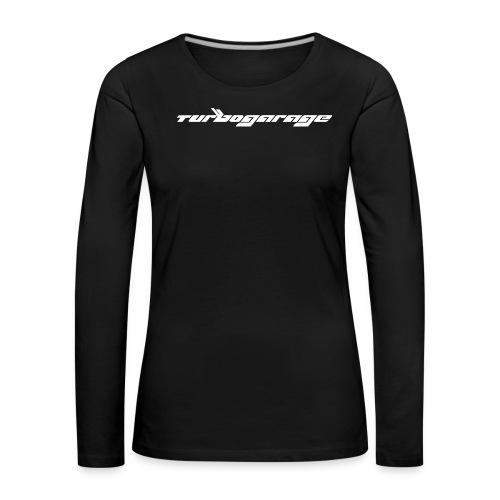 Turbogarage White - Frauen Premium Langarmshirt