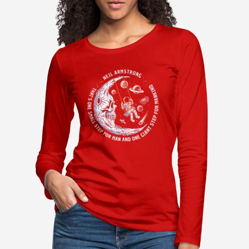 moon astronaut stars space - Frauen Premium Langarmshirt