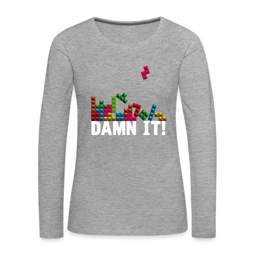 Damnit - Vrouwen Premium shirt met lange mouwen