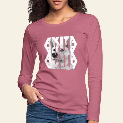 Akita NASSU V - Naisten premium pitkähihainen t-paita