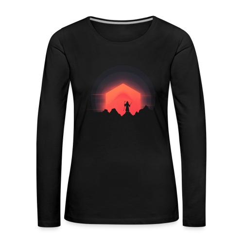 The Nightly Adventure D20 - DnD Dungeons Dragons - Naisten premium pitkähihainen t-paita