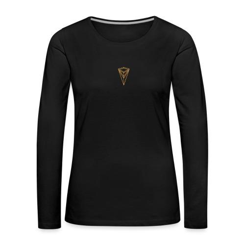VASO MINIMAL WOOD - Koszulka damska Premium z długim rękawem