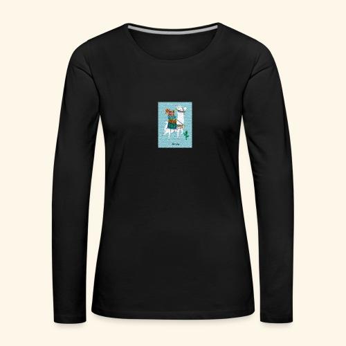 Lama Gang - Frauen Premium Langarmshirt