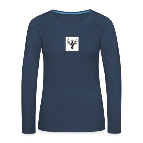 Power skullwings - T-shirt manches longues Premium Femme