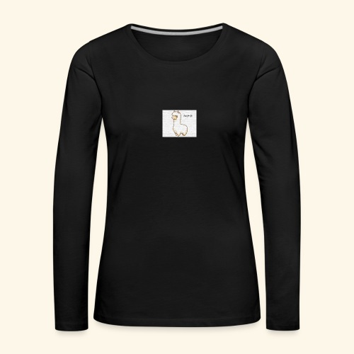 lama / alpaca - Frauen Premium Langarmshirt