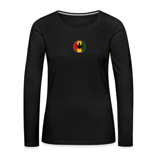 weed logo - Dame premium T-shirt med lange ærmer