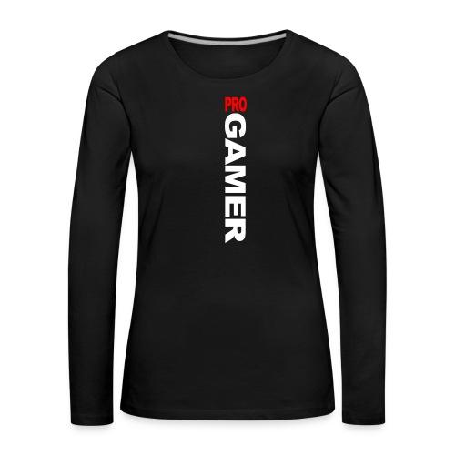Pro Gamer (weiss) - Frauen Premium Langarmshirt
