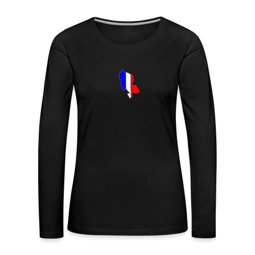 Carte Territoire de Belfort bleu blanc rouge - T-shirt manches longues Premium Femme