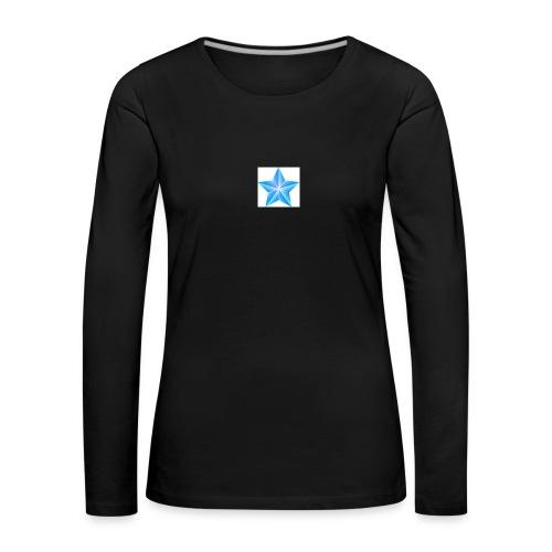 blue themed christmas star 0515 1012 0322 4634 SMU - Women's Premium Longsleeve Shirt