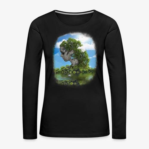 Land of Id - Långärmad premium-T-shirt dam