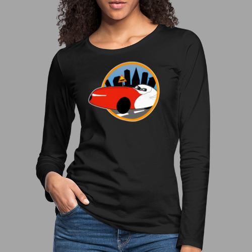 Velomobile-skyline - Naisten premium pitkähihainen t-paita