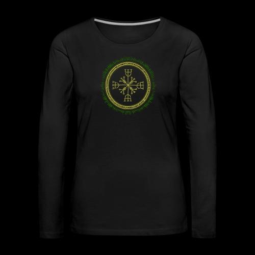 Norse Runes with Aegishjalmur 2017 - Women's Premium Longsleeve Shirt