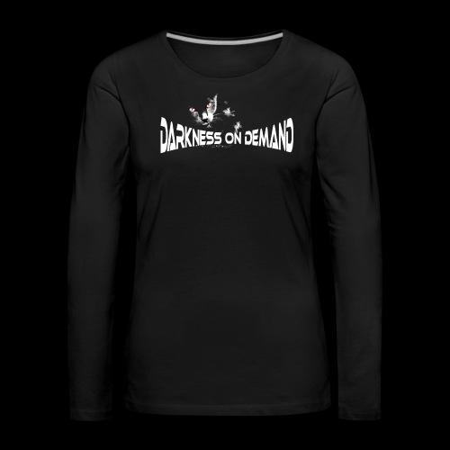 DoD Darkness on Demand Cat - Frauen Premium Langarmshirt