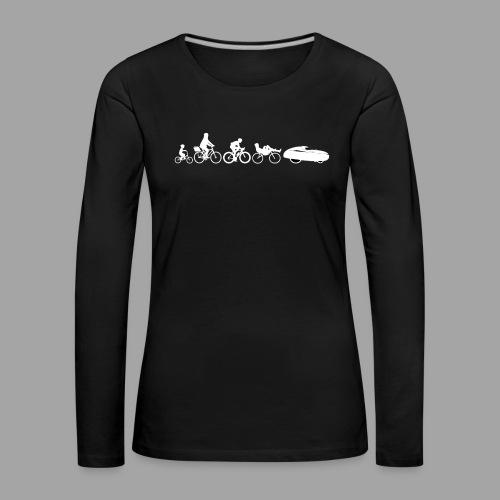 Bicycle evolution white - Naisten premium pitkähihainen t-paita