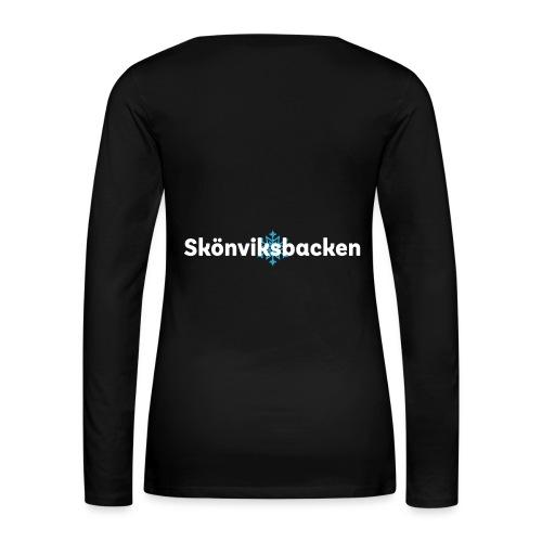 Skoenviksbacken vit stor avla ng kopia A terstae - Långärmad premium-T-shirt dam