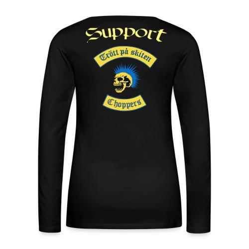 Supporter logga - Långärmad premium-T-shirt dam