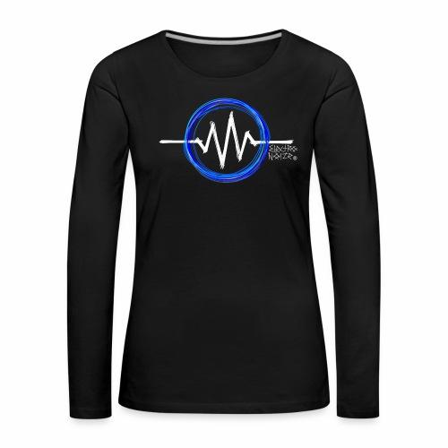 ElectroNoize Logo BLUE PX - Frauen Premium Langarmshirt