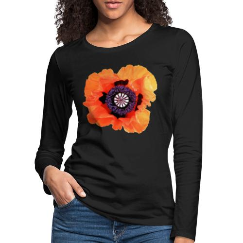 TIAN GREEN - Mohnblüte 2020 01 - Frauen Premium Langarmshirt