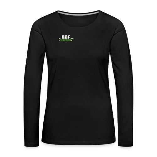 estd_logo leer_klein - Frauen Premium Langarmshirt