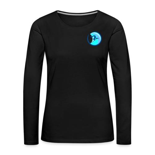 rrsurffimusta - Naisten premium pitkähihainen t-paita