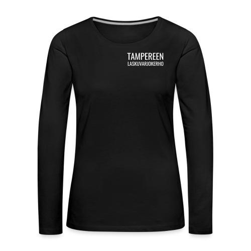 Teksti TAMLK logo CMYK Wh - Naisten premium pitkähihainen t-paita