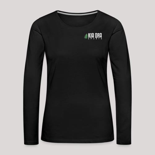 logo mit weißer schrift s - Frauen Premium Langarmshirt