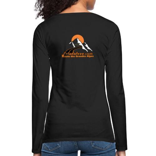 logo motofree orange - T-shirt manches longues Premium Femme