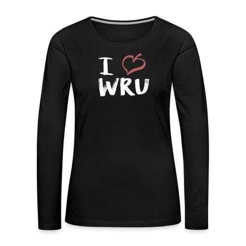 i love wru weiß - Frauen Premium Langarmshirt