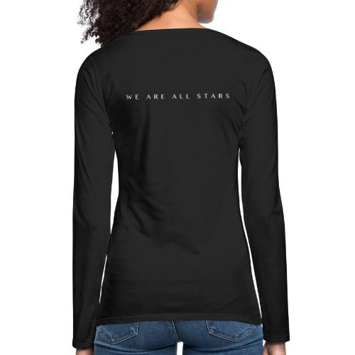 Galaxy Music Lab - We are all stars - Dame premium T-shirt med lange ærmer