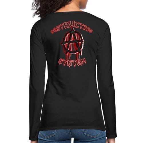 anarchy - T-shirt manches longues Premium Femme