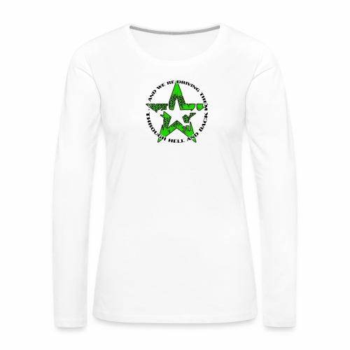 ra star slogan slime png - Frauen Premium Langarmshirt