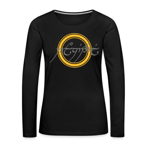 Tolkiendil en tengwar (écusson & dos) - T-shirt manches longues Premium Femme