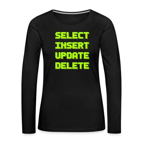 SQL pixelart black - Frauen Premium Langarmshirt