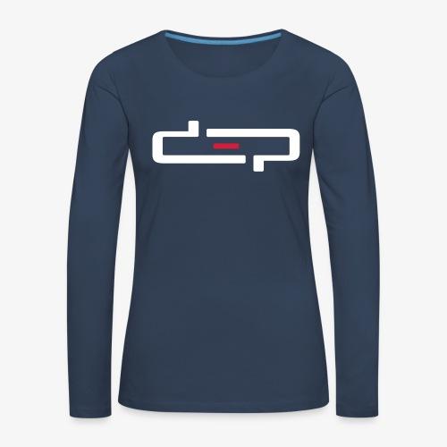 deplogo1neg red - Premium langermet T-skjorte for kvinner