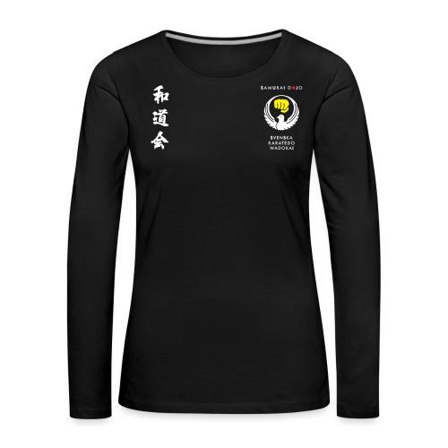 Samurai dojos klubbkläder - Långärmad premium-T-shirt dam