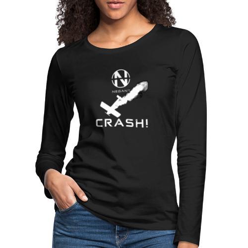 CRASH! + WE GO DOWN IN FLAMES! - Dame premium T-shirt med lange ærmer