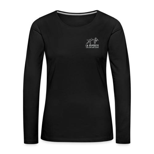 La Riposte Blanc - T-shirt manches longues Premium Femme