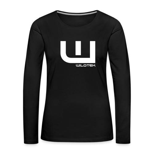 Wildtek Logo White - Women's Premium Longsleeve Shirt