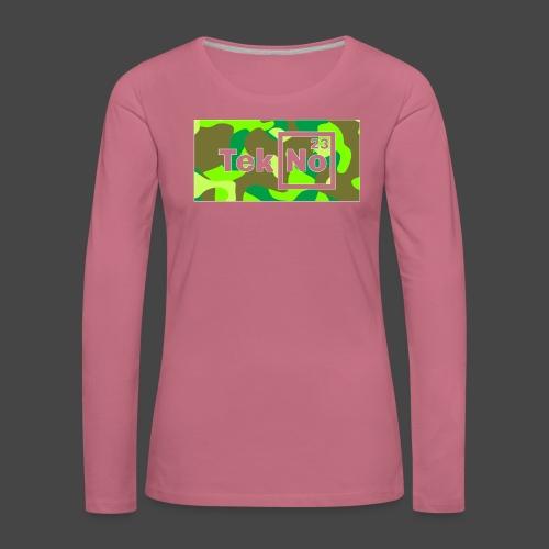TEKNO 23 CAMOUFLAGE - Maglietta Premium a manica lunga da donna