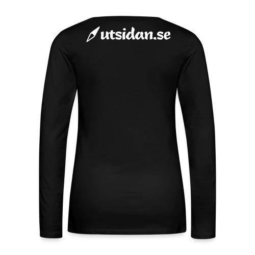 utsidan-2000px-bw - Långärmad premium-T-shirt dam