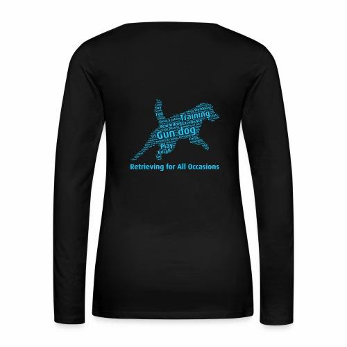 Retrieving for All Occasions wordcloud blått - Långärmad premium-T-shirt dam