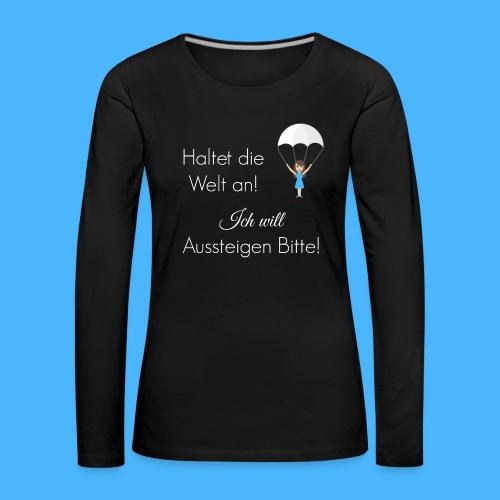 Fallschirm weiß - Frauen Premium Langarmshirt