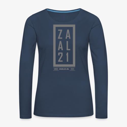 T-SHIRT-BLOK - Vrouwen Premium shirt met lange mouwen