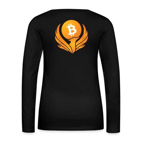 BITCOIN FENIKS - Koszulka damska Premium z długim rękawem