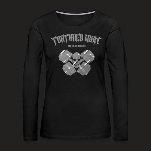 checekerd skull.png - Women's Premium Longsleeve Shirt